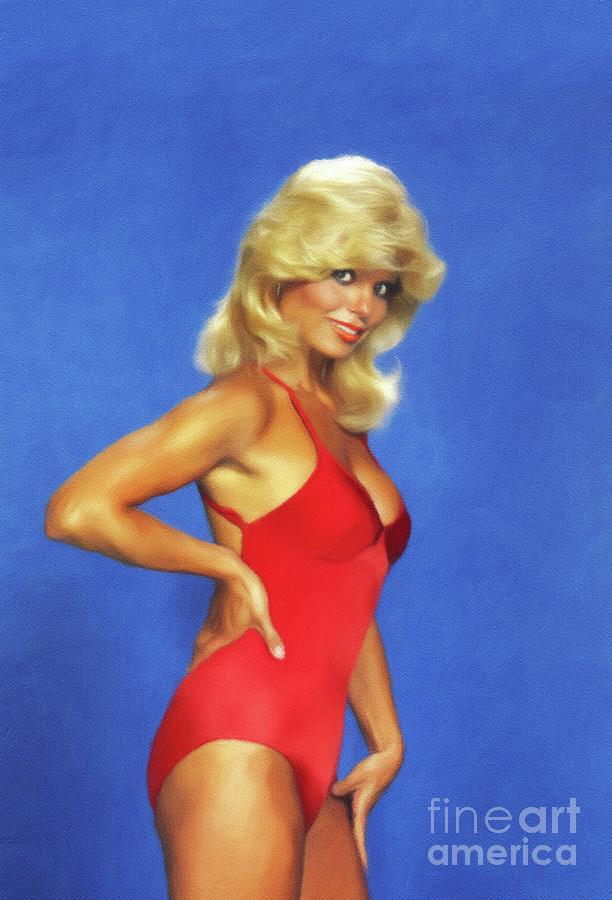 Loni Painting - Loni Anderson, Actress by John Springfield