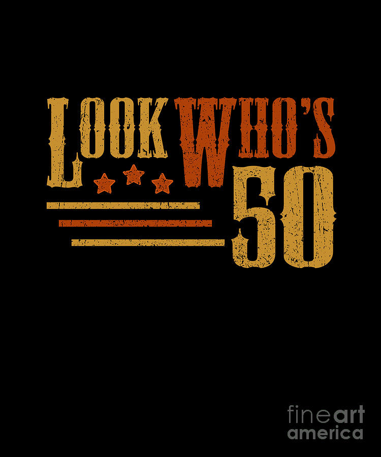Old 50 years Happy 50th