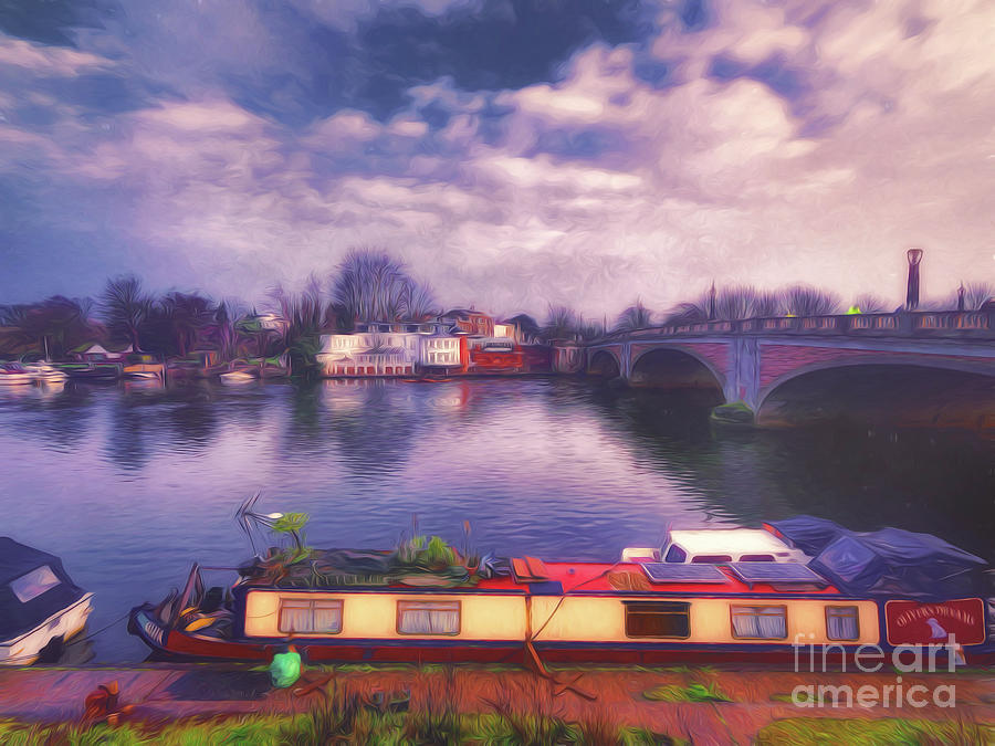 River Thames Photograph - Looking Back by Leigh Kemp