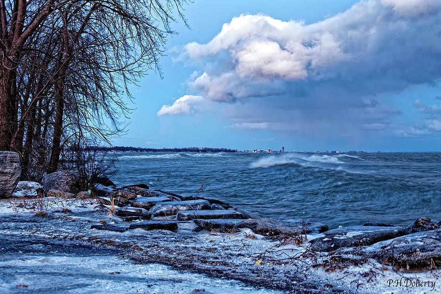 Looking East Across Erie At Buffalo Ny Photograph