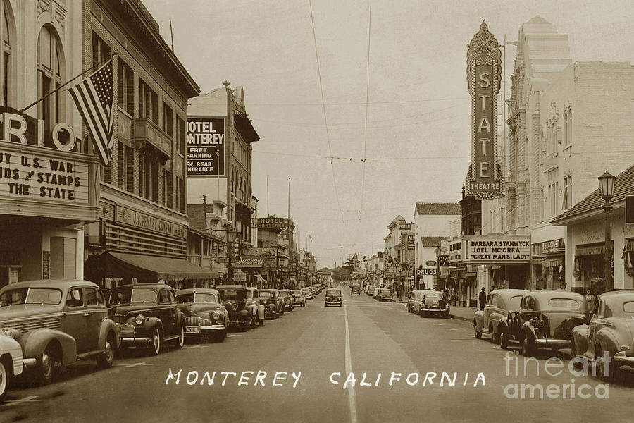 Looking North down Alvarado street looking north/ State and Rio  by California Views Archives Mr Pat Hathaway Archives