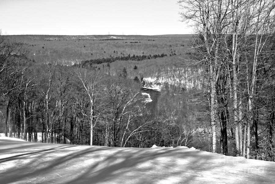 Looking Out Over Floyds Folly Black And White by Adam Jewell