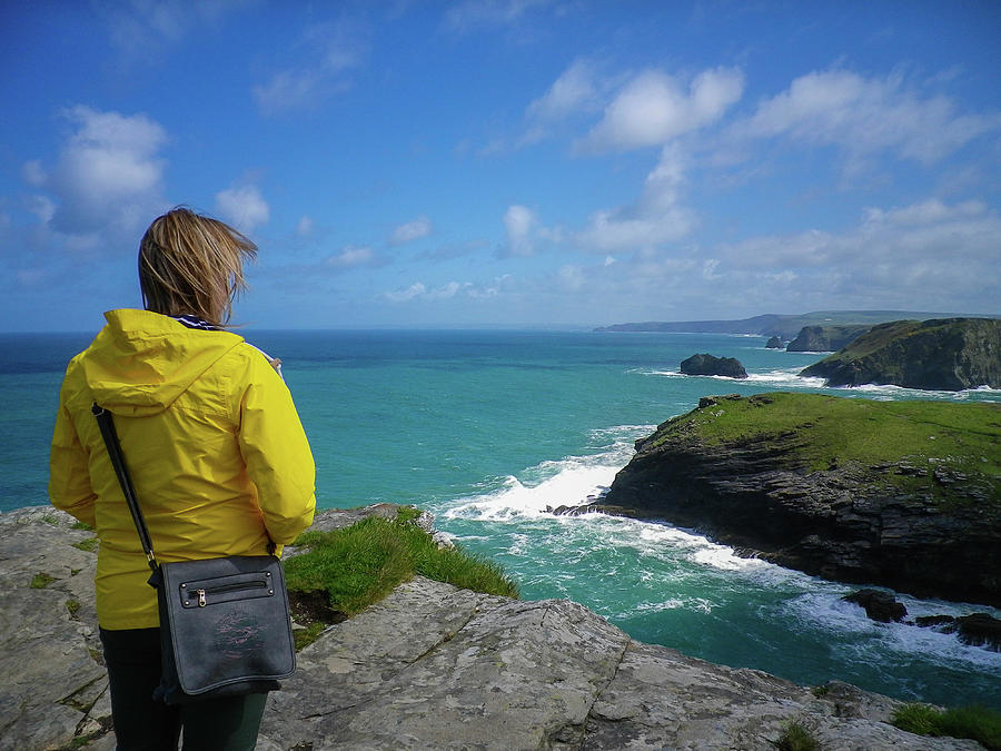 Looking To The Future Tintagel Cornwall Photograph