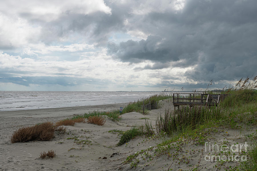 Looking Toward Morris Island Lighthouse From Isle Of Palms Photograph