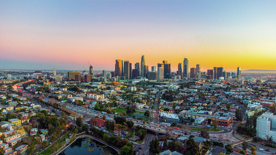 Looking Towards Downtown From Echo Park Photograph