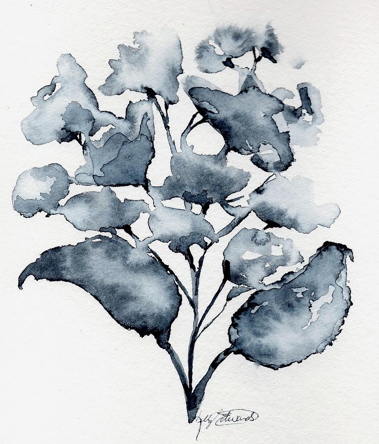 Watercolor Painting - Loose Hydrangea by Kelly Edwards