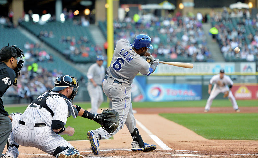 Lorenzo Cain, Alex Gordon, and Billy Butler Photograph by Brian Kersey