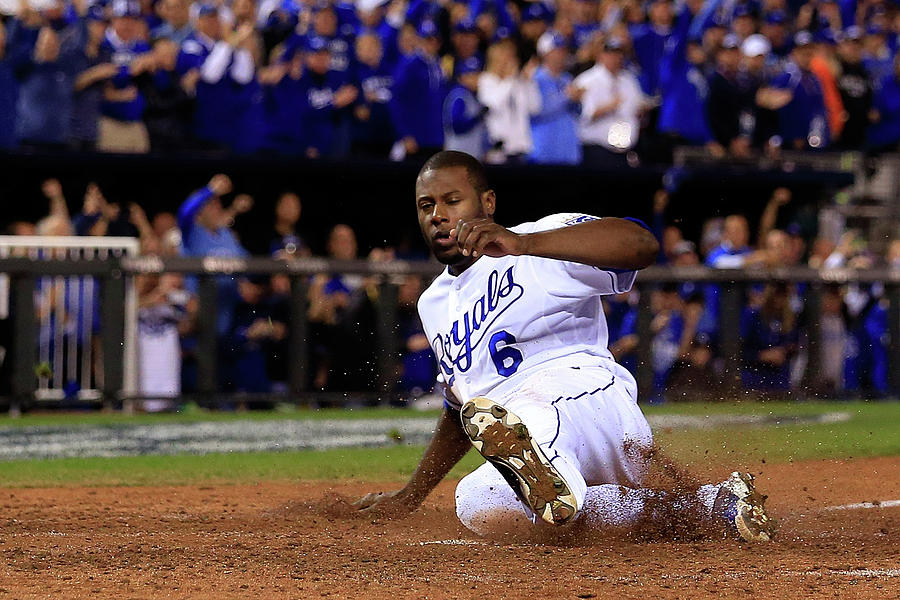 Lorenzo Cain and Billy Butler Photograph by Elsa