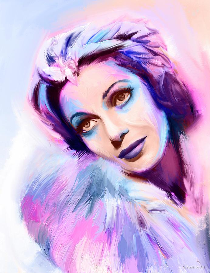 Loretta Young Portrait Painting