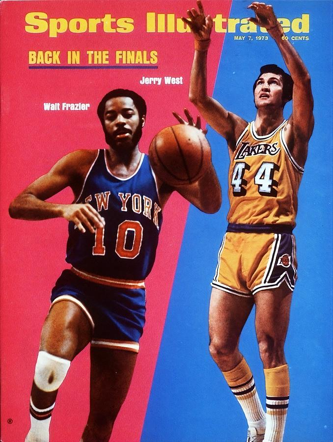 Los Angeles Lakers Jerry West And New York Knicks Walt Sports Illustrated Cover Photograph by Sports Illustrated
