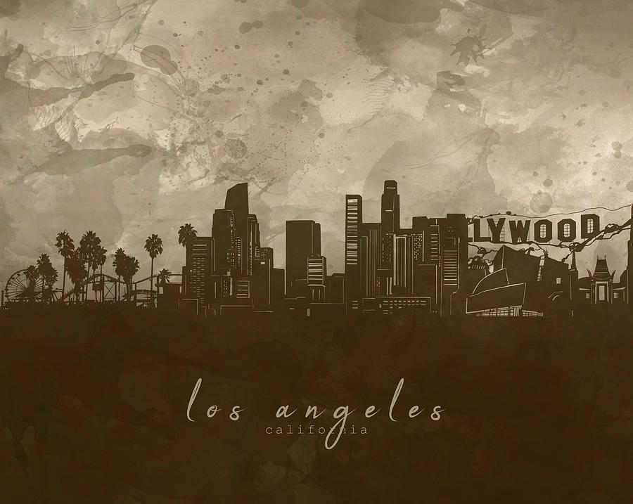 Los Angeles Skyline Panorama 4 Digital Art