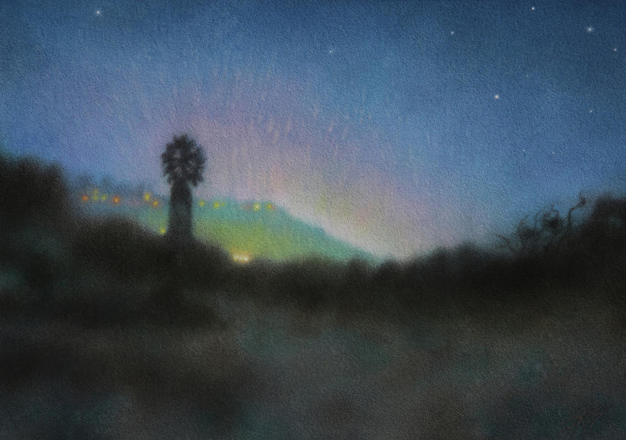 Los Penasquitos Canyon Preserve with Anthropogenic Starlight by Robin Street-Morris