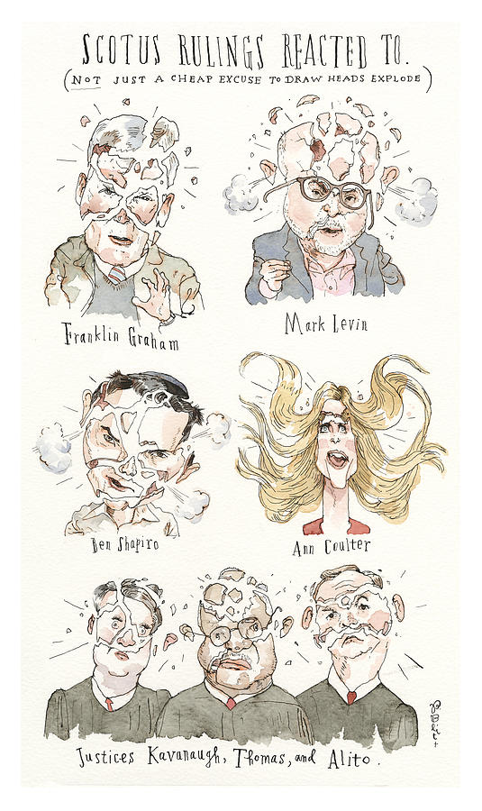 Losing Their Heads Painting by Barry Blitt
