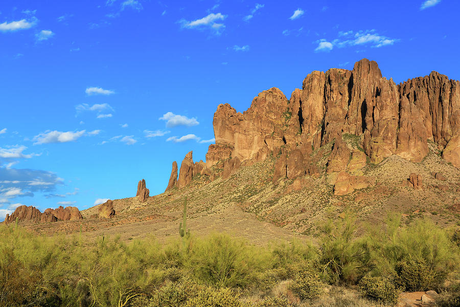 Lost Dutchman View of Superstition Mountains by Dawn Richards