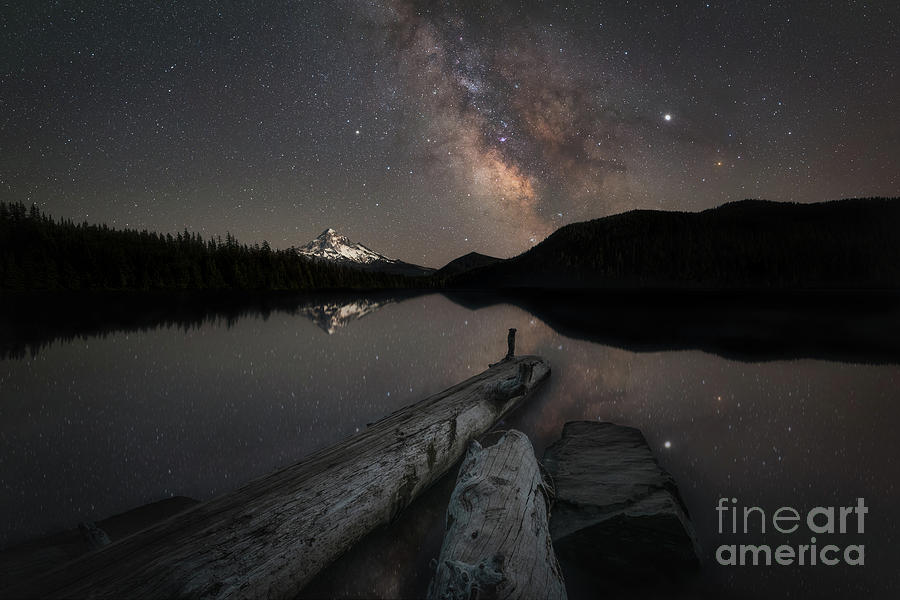 Milky Way Galaxy Photograph - Lost Lake Reflections  by Michael Ver Sprill