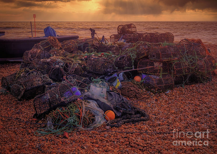 Lobster Pots Photograph - Lots of pots by Leigh Kemp