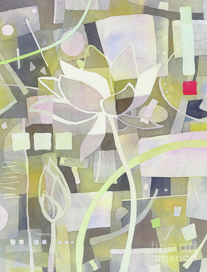 Lotus Dream 2-pastel Colors Painting