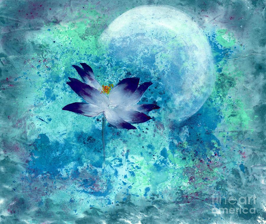 Lotus Moon Painting by Mui-Joo Wee