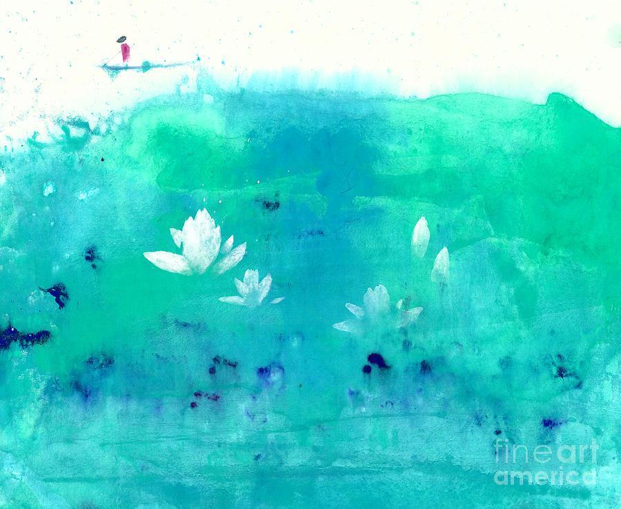 Lotus Pond Painting by Mui-Joo Wee