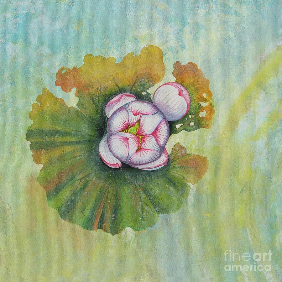 Lotus Painting - Lotus pool. 1st of 4 parts  by Yuliya Glavnaya