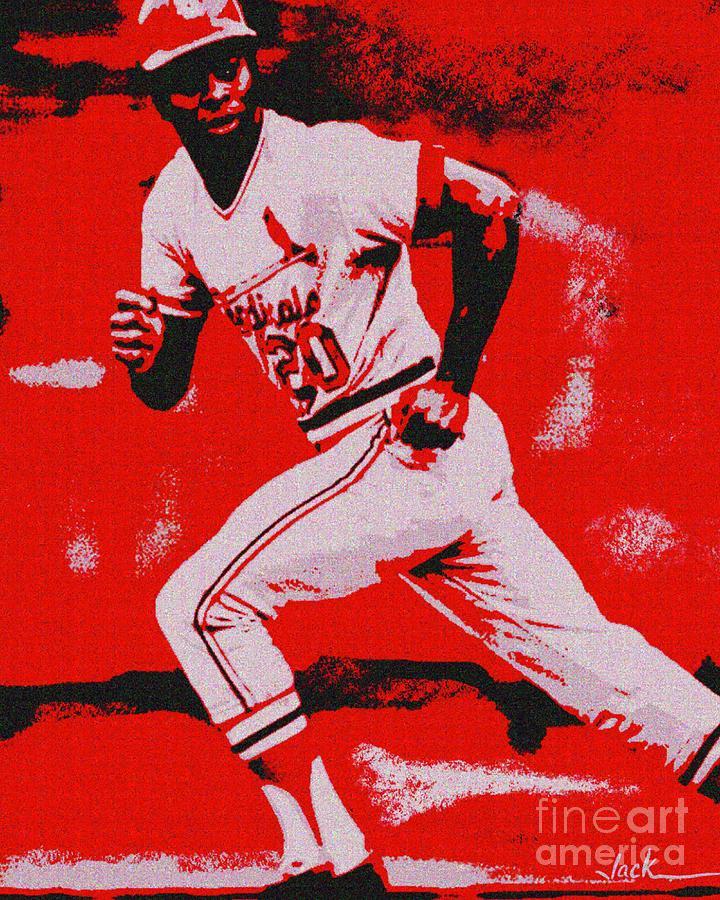 Lou Brock Painting - Lou Brock by Jack Bunds
