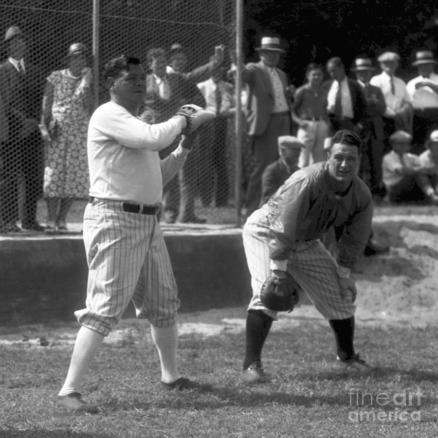 Lou Gehrig and Babe Ruth Photograph by Olen Collection