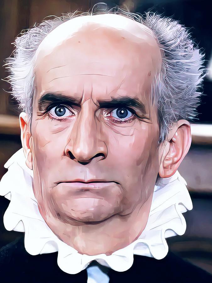 Louis De Funes Painting - Louis de Funes Portrait by Vincent