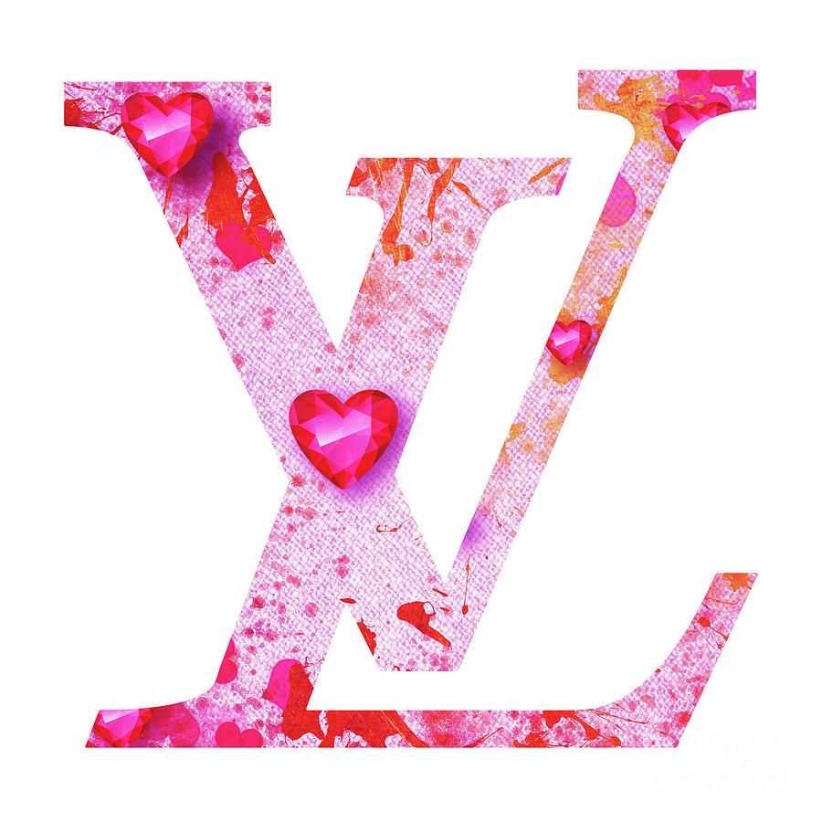 Louis Vuitton Logo - 32 Digital Art by Prar Kulasekara