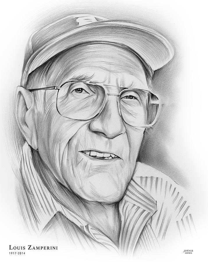 Louis Zamperini Drawing - Louis Zamperini - pencil by Greg Joens