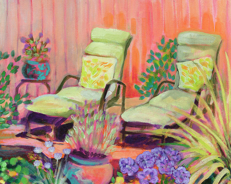 Lounge Chairs For Two Painting