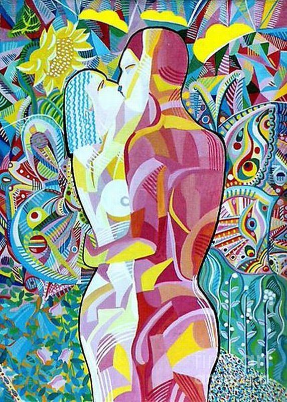 Spiritual Energy Painting -  Love, 19.5x27.5,  by Zorina Kunkina