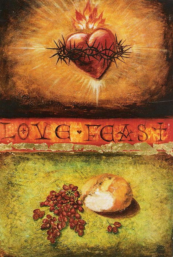 Bread Painting - Love Feast by Teresa Carter