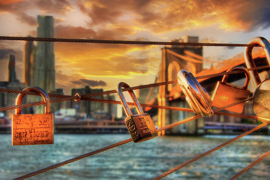Love Locks - Brooklyn Bridge Photograph