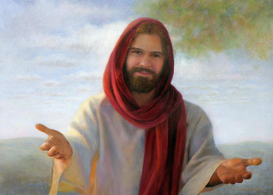 Jesus Christ Painting - Love of Jesus by Nancy Lee Moran