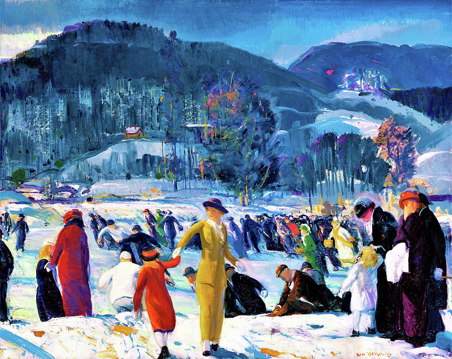 George Wesley Bellows Painting - Love Of Winter - Digital Remastered Edition by George Wesley Bellows