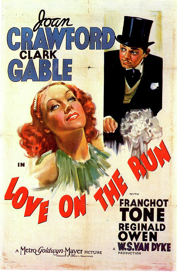 love On The Run Movie Poster 1936 Mixed Media