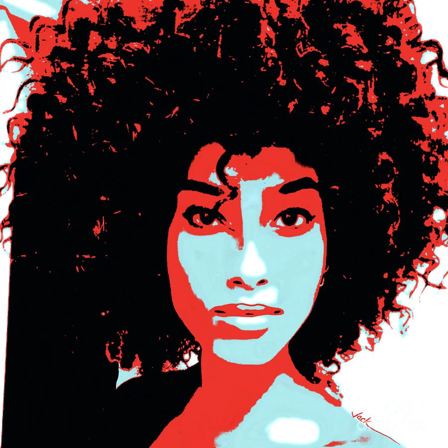 Afro Painting - Love the Confidence by Jack Bunds