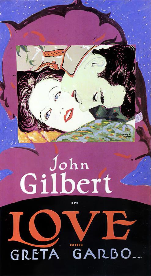 love, With John Gilbert And Greta Garbo, 1927 Mixed Media