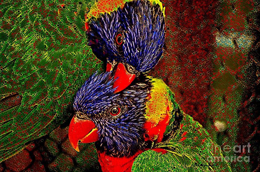 Lovebirds Digital Art