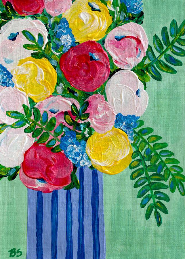 Green Painting - Lovely by Beth Ann Scott
