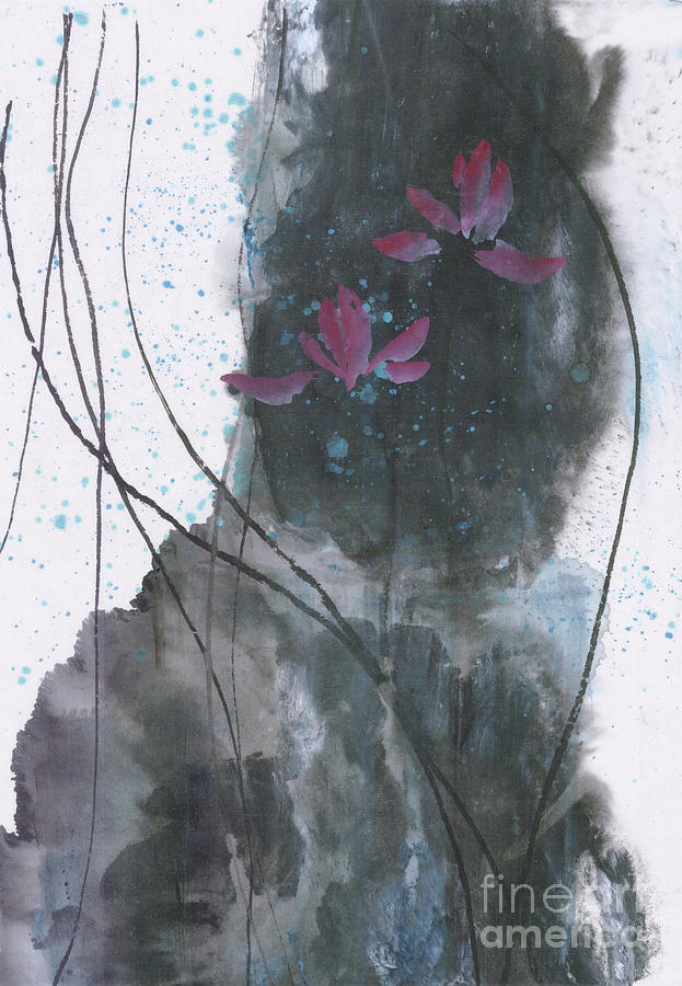 Upright Painting - Lovely Lotus by Mui-Joo Wee
