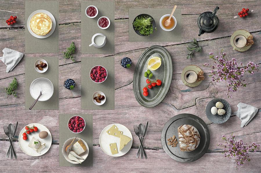 Lovely Summer Breakfast For Two Photograph
