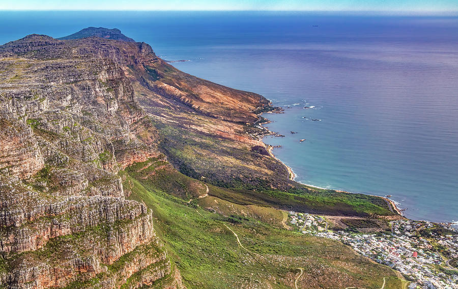 Lovely Vista From The Top Of Table Mountain by Marcy Wielfaert