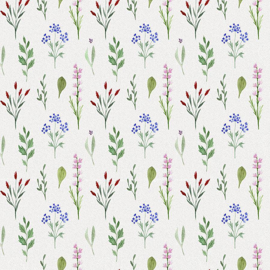 Lovely Wildflowers Pattern Digital Art