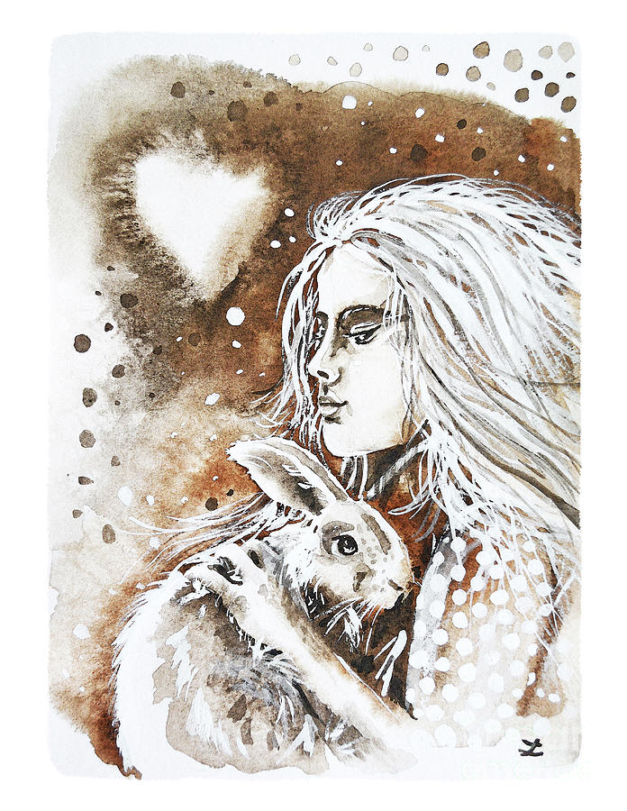 Loving Heart In Sepia Painting