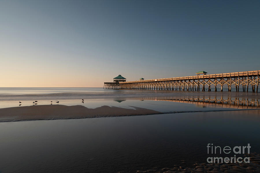 Low Tide - Folly Beach Pier Photograph