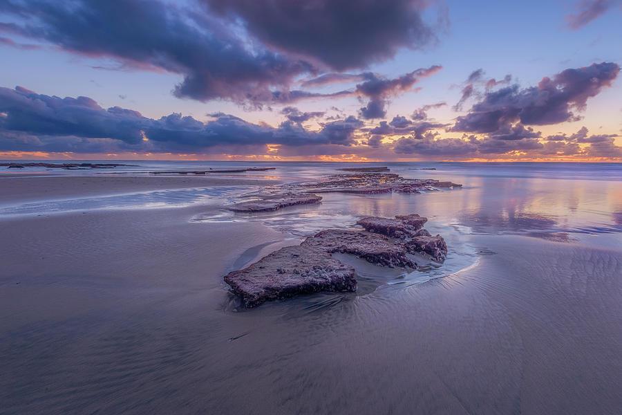Solana Beach Photograph - Low Tide Twilight, Tabletop Reef, Solana Beach by Alexander Kunz
