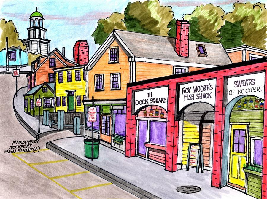 Lower Main Street-rockport Drawing