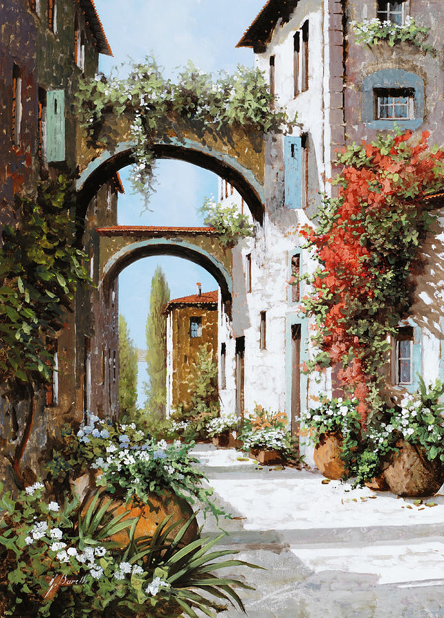 Arch Painting - Luce Sui Muri by Guido Borelli