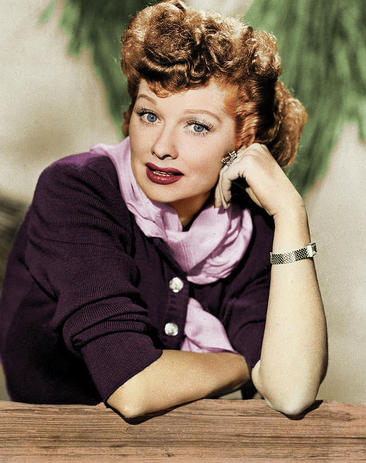 Lucille Ball Colorized Photograph